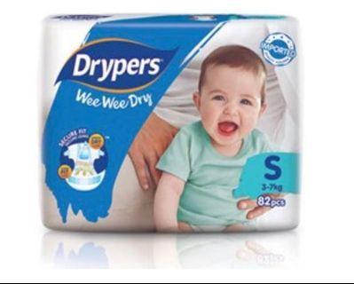 DRYPERS Wee Wee Dry Diapers (S)