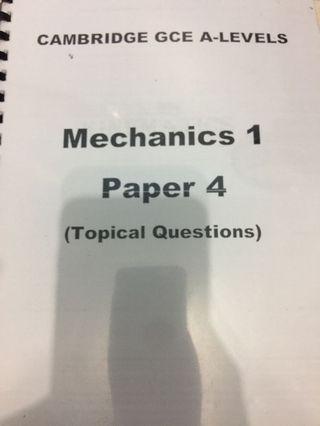 Mechanics Cambridge A LEVEL Past year paper 4