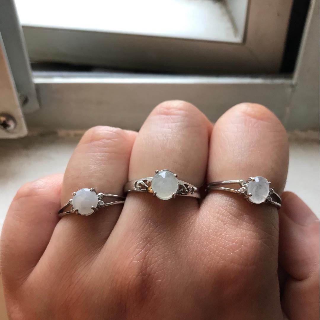 翡翠純銀戒指