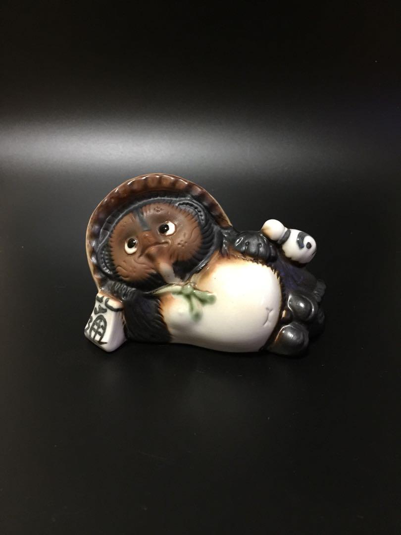 日本狸貓陶瓷擺件