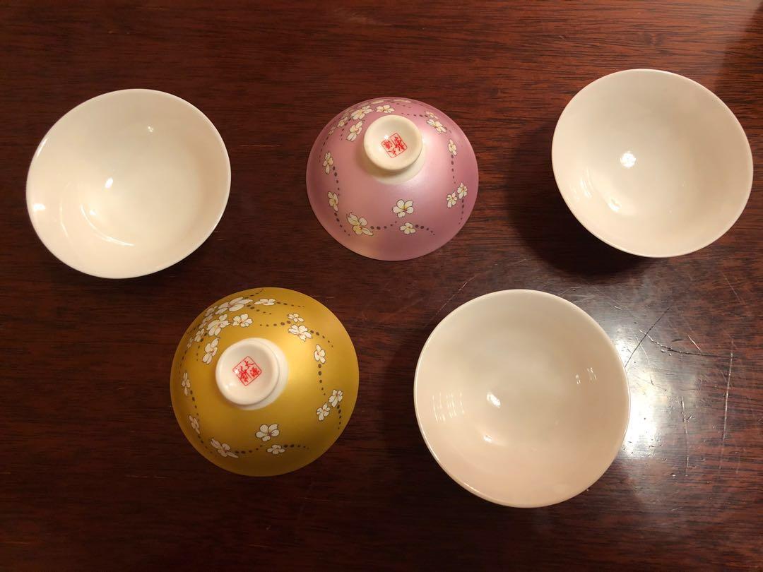 台灣新太源 珍珠彩油桐花五入響杯