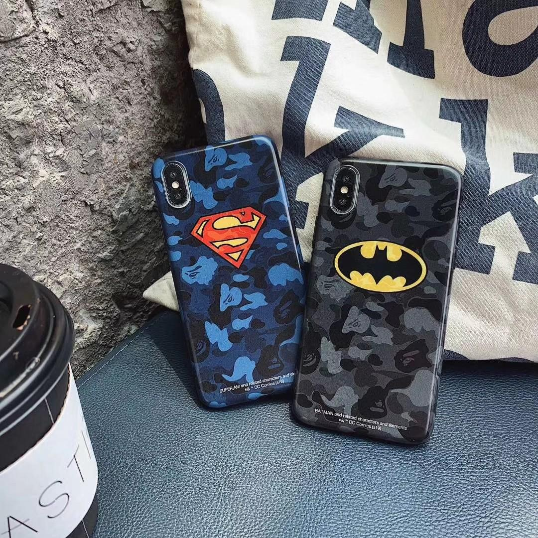 迷彩蝙蝠俠 超人手機殼 batman superman iPhone Case 6 7 8 X Xs XR Xs Max