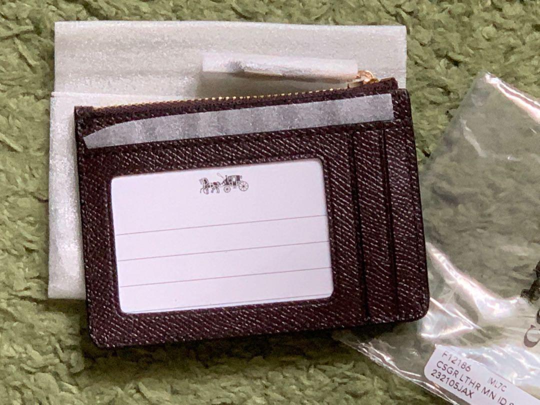 全新 美國🇺🇸紫啡色 Coach Card holder / Wallet
