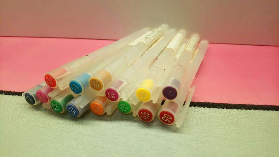 無印良品 彩色墨水筆 18枝殼only MUJI Pen holder