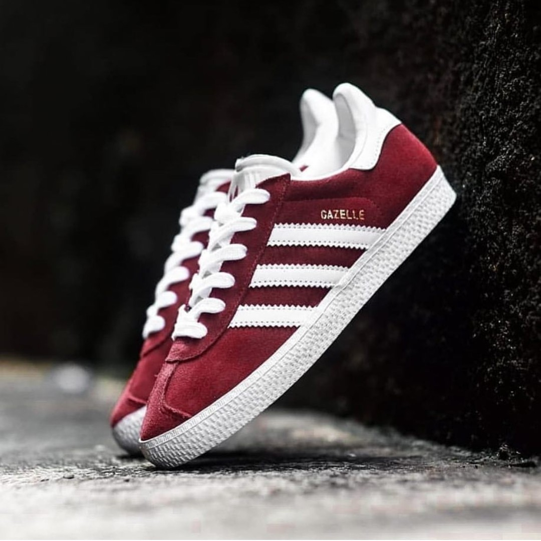 fast delivery genuine shoes hot product Adidas Gazelle 2.0 J Maroon