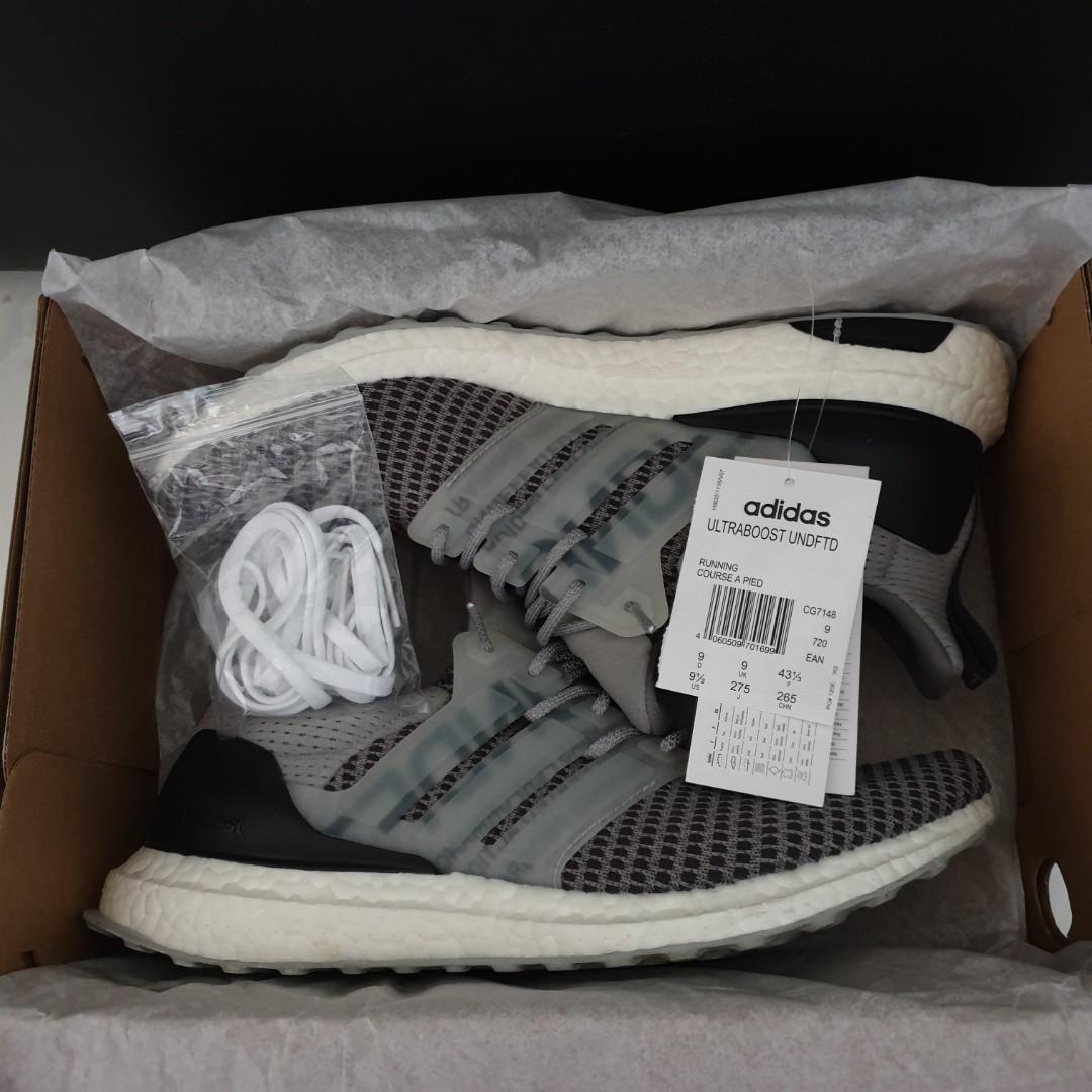 Adidas x Undefeated Ultraboost., Men's Fashion, Footwear
