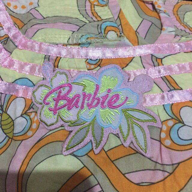 Barbie baju bahan katun size 8