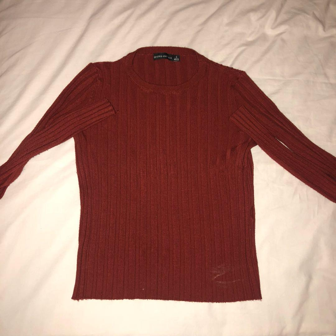 Bershka Long Sleeve Top