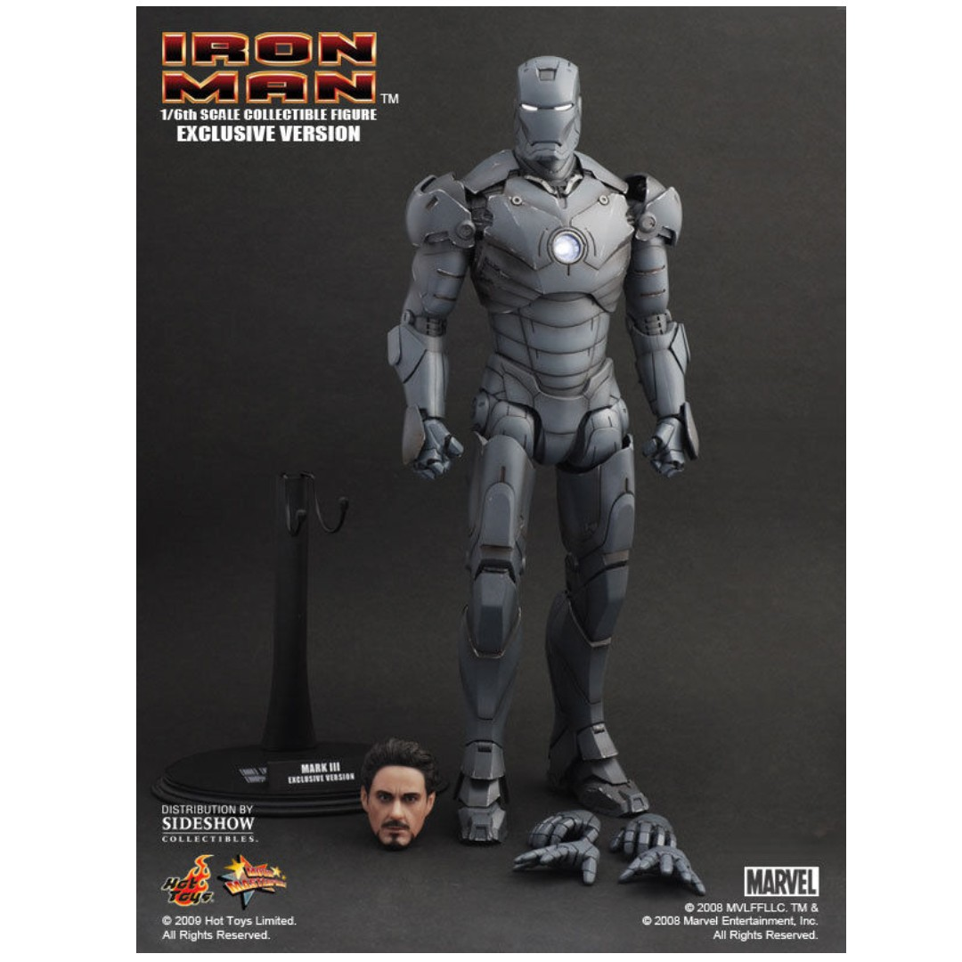 Brand New Hot Toys Mms101 Iron Man Mark Iii 3 Gunmetal Gun Metal Not