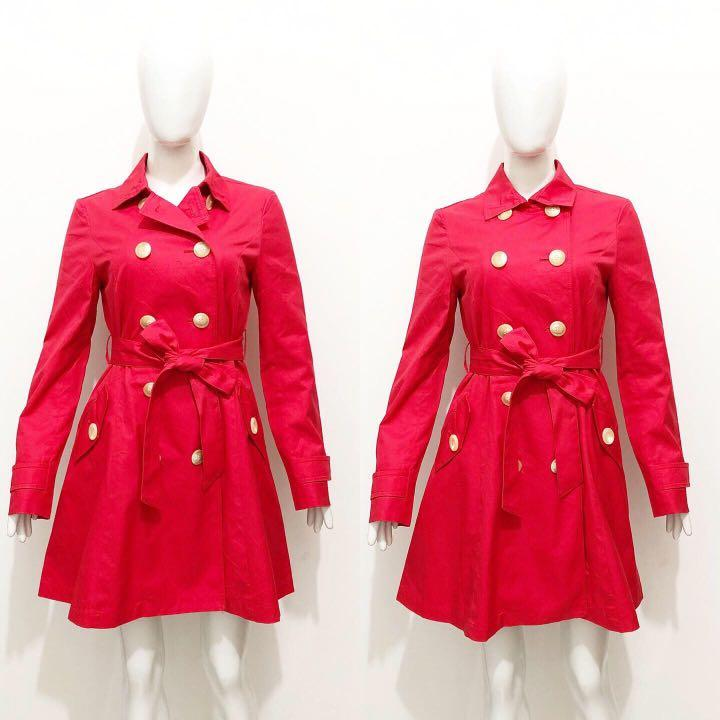 By P&D red trench coat / blazer coat / outer
