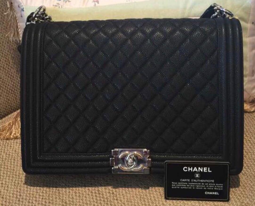 f9f62e8b79c0 Chanel Boy Large size, Women's Fashion, Bags & Wallets, Handbags on ...