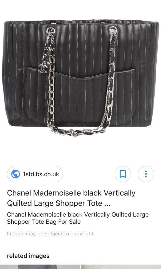 0b83a9829ea599 Chanel Mademoiselle vertically quilted lambskin tote, Luxury, Bags ...