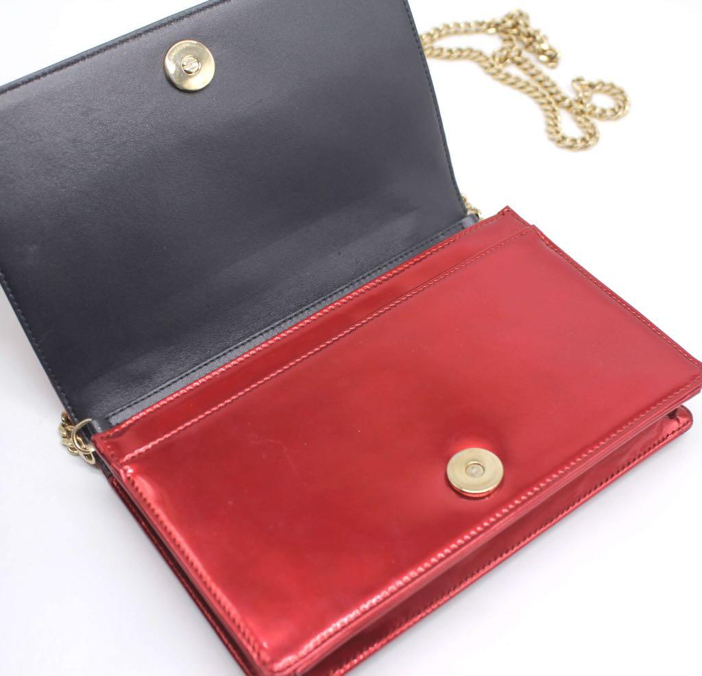 CHRISTIAN DIOR Micro Cannage Diorama Wallet On Chain