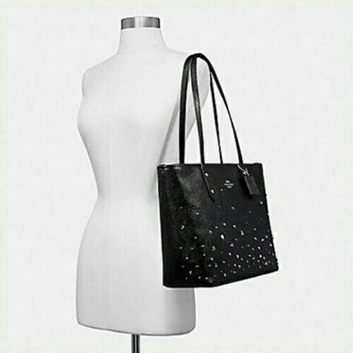 COACH City Zip Tote with Stardust / Tas COACH Original Murah / COACH Sling Bag Original Murah