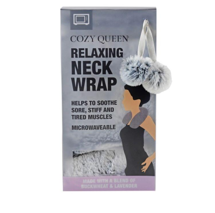 Cozy queen relaxing neck wrap microwavable sooth stiff, sore & tired muscles