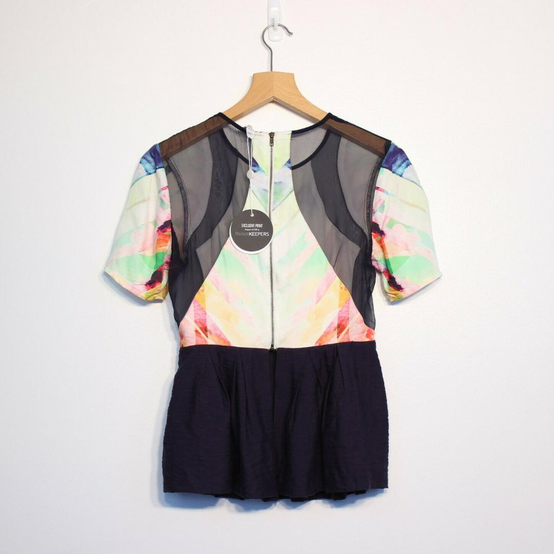 Finders Keepers Peplum Top Limited Edition Navy With Tags Size S