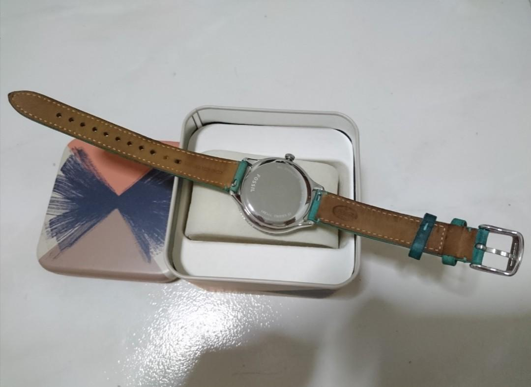 Fossil Green Leather strap Diameter 38.5mm ES3243 (Authentic)