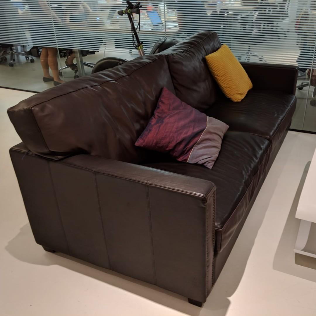 Genuine Timothy Oulton Leather Sofa