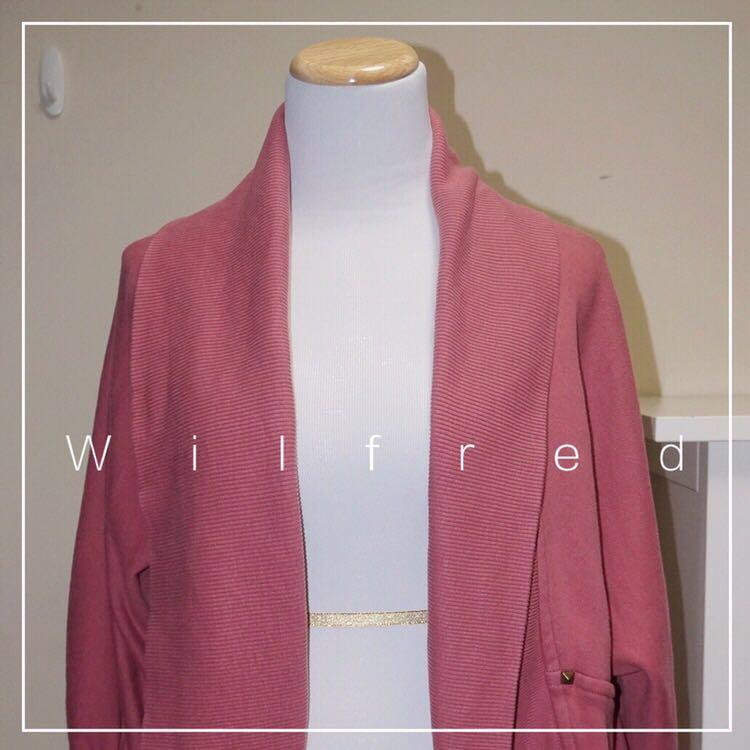*Great Condition* Aritzia / Wilfred 70% Cotton Open-front Cocoon Cardigan in Rose Women Size M