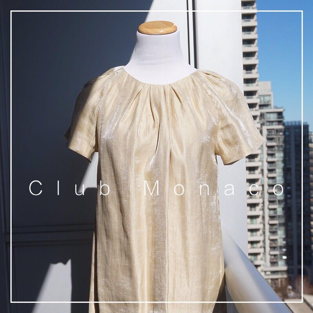 *Great Condition* Club Monaco Metallic Top Women Size M