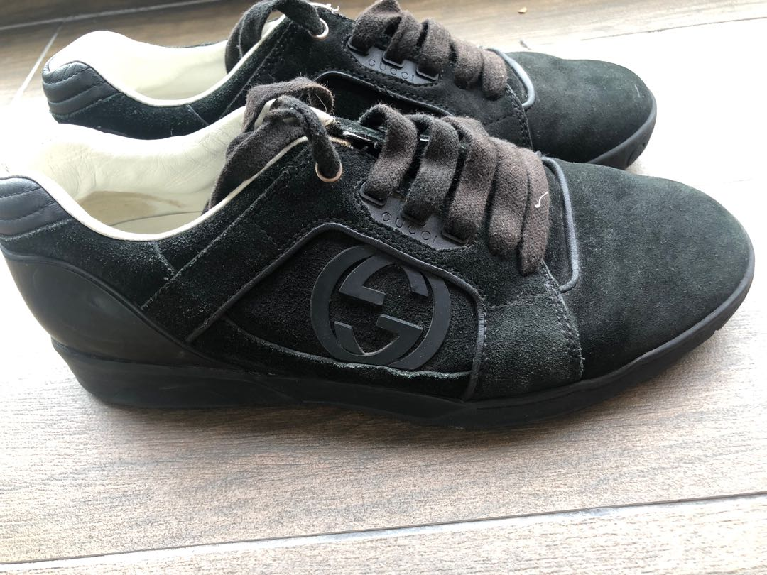 f210f8a5e Gucci black sneakers, Men's Fashion, Footwear, Sneakers on Carousell