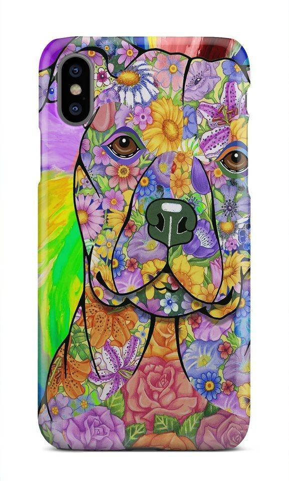 Handmade Pit Bull Hard Phone Cases