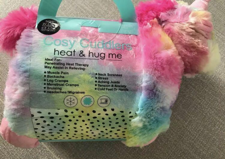 Heat & hug neck, tummy, back warmer unicorn tourmaline beads Mother's Day gift