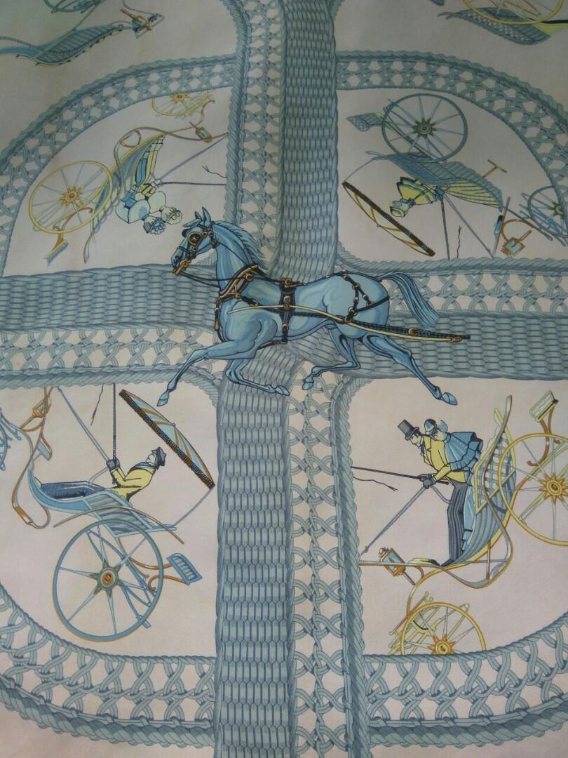 Hermes voitures paniers silk Scarf scarves shawl