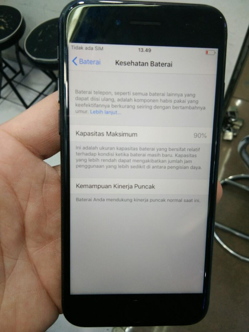 Iphone 7 128gb Jettblack Inter no rekon mulus Apik fullset