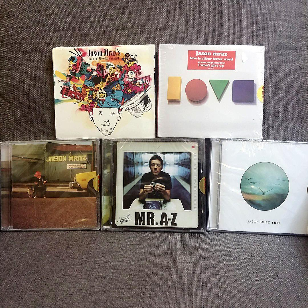 Jason Mraz CDs Set 5 Albums Sealed on Carousell