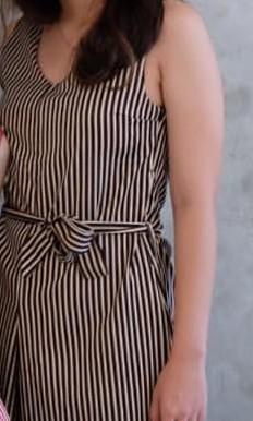 Jumsuit stripe robe