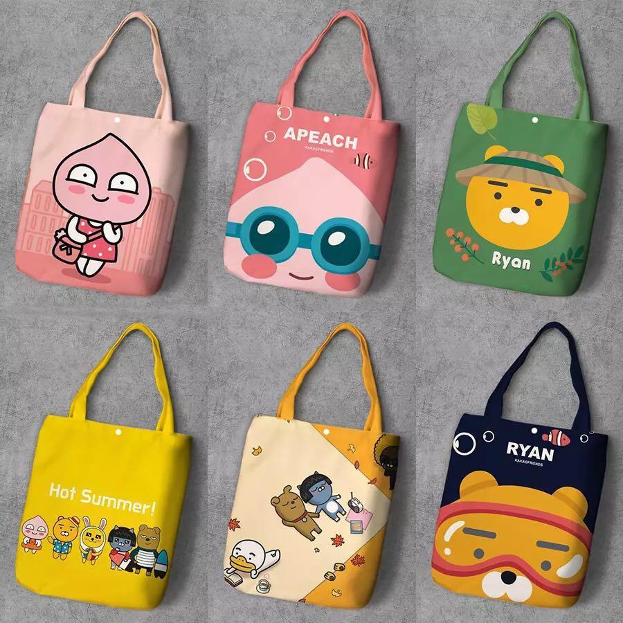118717b4ec6d Kakao Friends Ryan Apeach Tote Bag, Women's Fashion, Bags & Wallets ...
