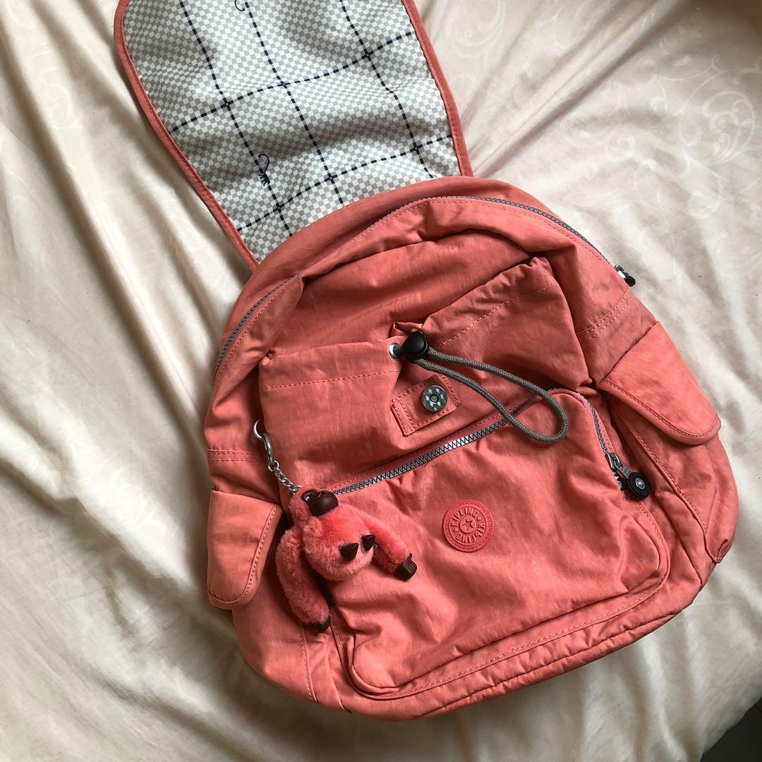 kipling city backpack in pink