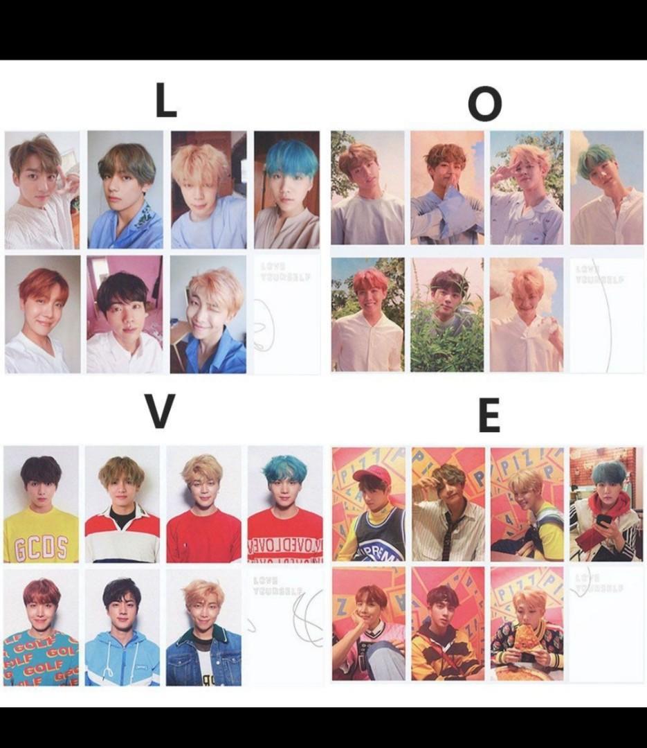 Love Yourself photocard (L.O.V.E)