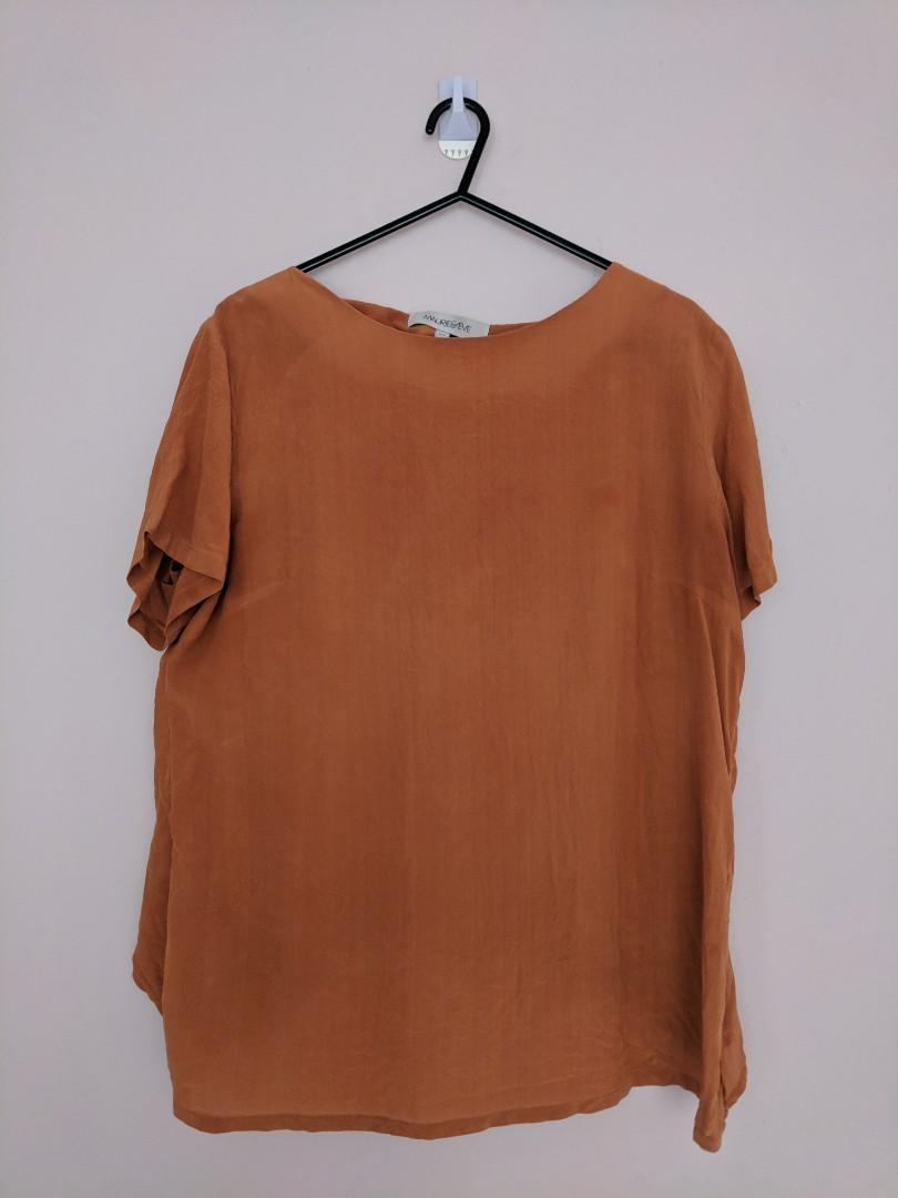 Maurie & Eve Top Orange Awesome Layered Back Feature