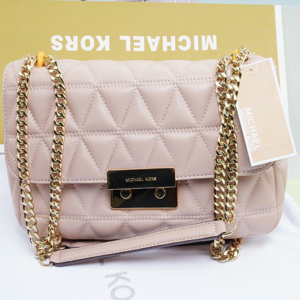 09328c71c534 MICHAEL KORS; Sloan Large Quilted-Leather Soft Pink Shoulder Bag ...