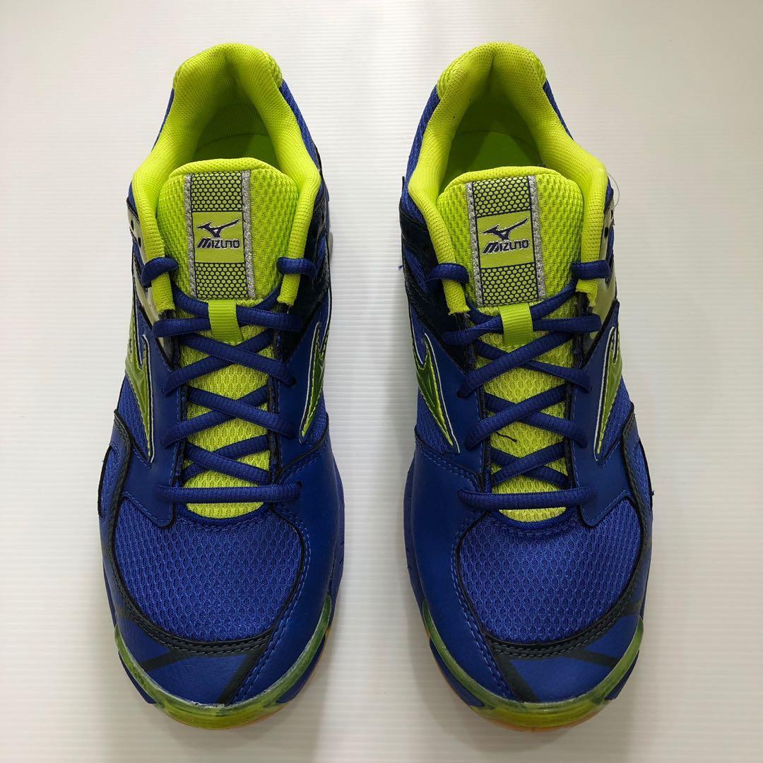ff6d21b6d88b Mizuno Wave Bolt 3 (Blue/Green) unisex indoor shoes, Sports, Sports ...