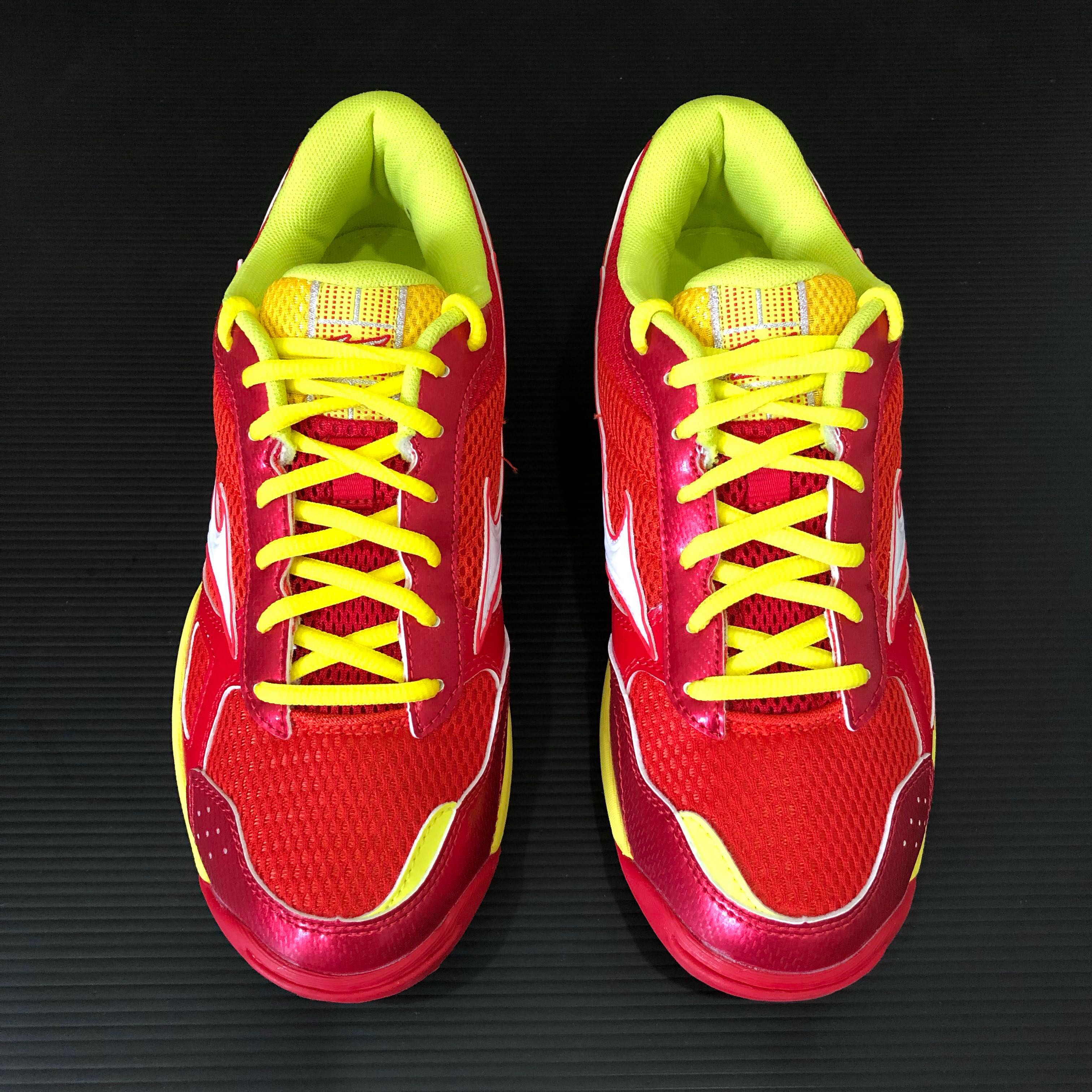 7d3665ae391 Mizuno Wave Twister 3 (Red Yellow) unisex indoor shoes