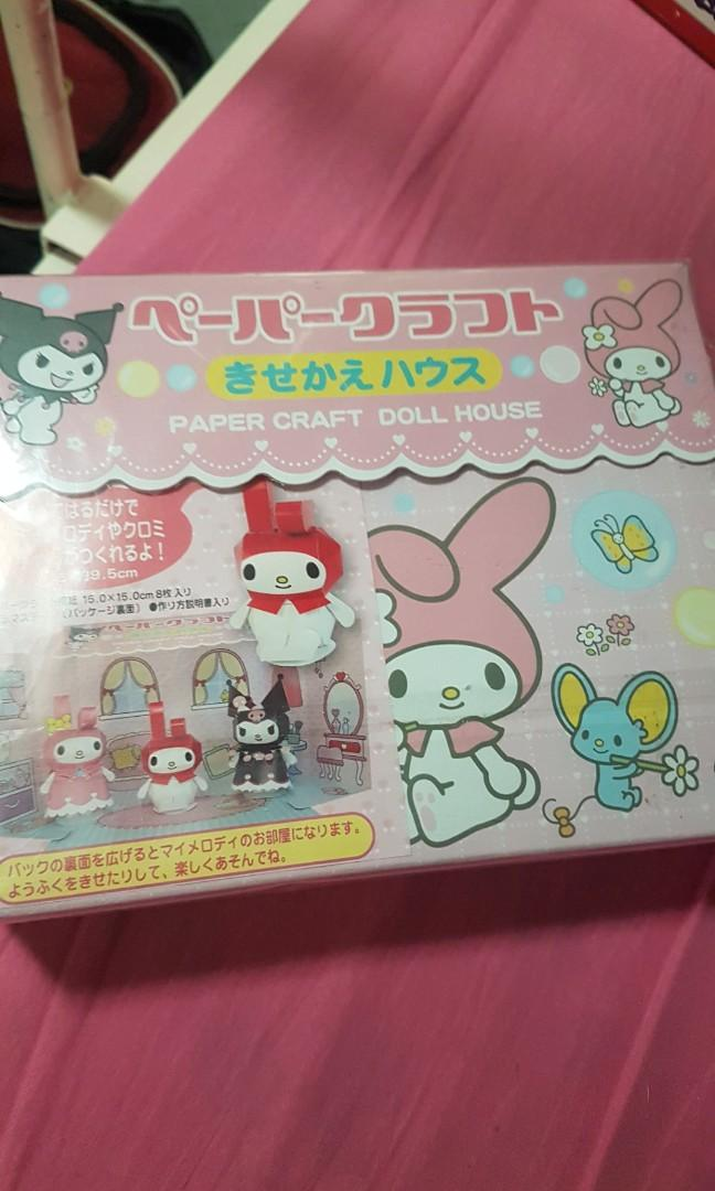 My melody paper craft dollhouse on Carousell