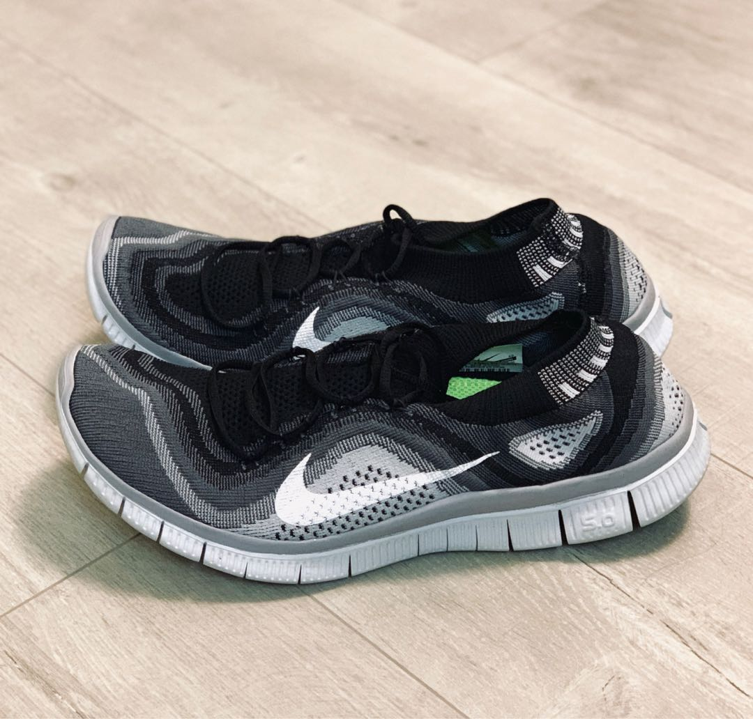 new styles c2d0d 3b1d9 Nike Free Flyknit 5.0 - Black and White (Size US12)