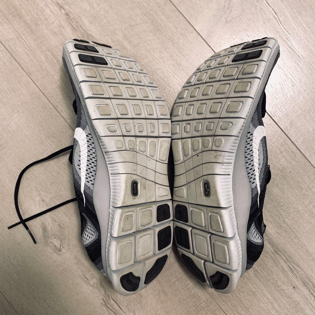 Nike Free Flyknit 5.0 - Black and White (Size US12)
