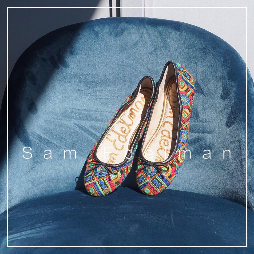 *NWOB* Sam Edelman Felicia Ballet Flats in Bombay Multi Women Size 7.5