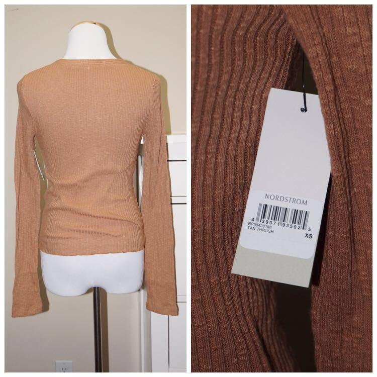 *NWT✨* BP. Long Sleeve Cardigan in Tan Thrush Women Size XS