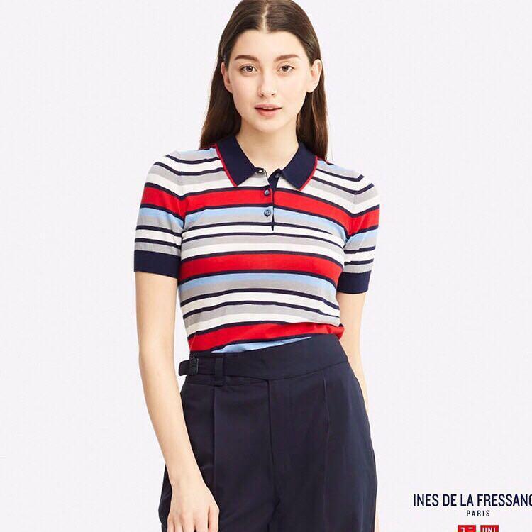 *NWT* UNIQLO x INES DE LA FRESSANGE Polo Tee Women Size S
