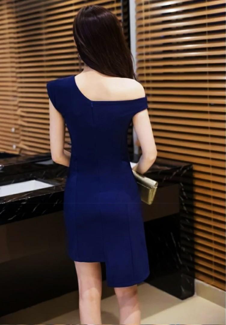 Off Shoulder Dress navy blue