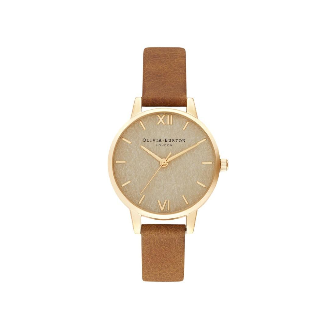 Olivia Burton Woven Dial Honey Tan & Pale Gold 30 mm