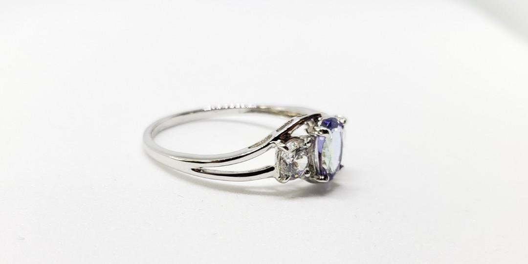 Oval Tanzanite ring, 925 sterling silver, natural gemstone, bridal ring, gift for her, promise ring