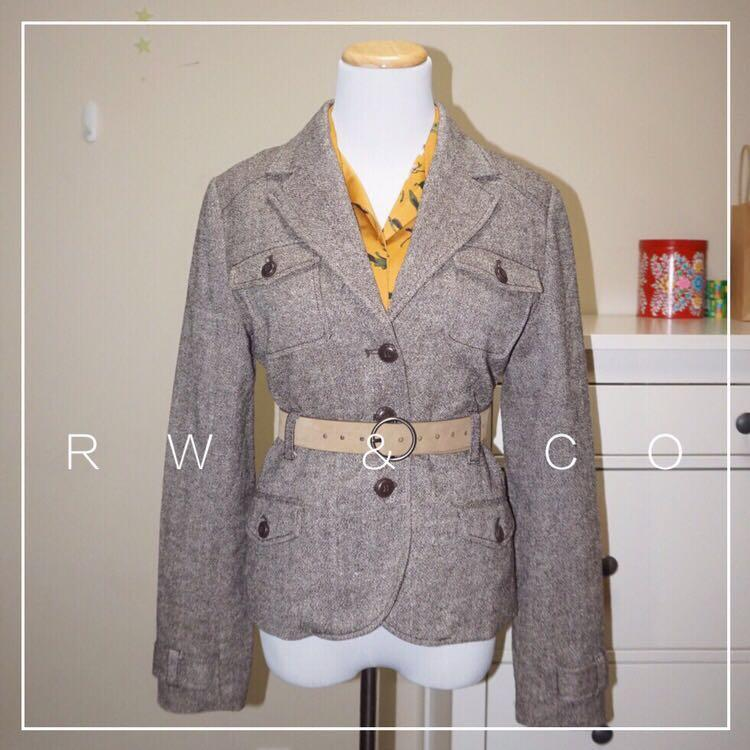 *Perfect Condition* RW & CO. 3-Button Blazer Wool And Silk Blend Women Size 8