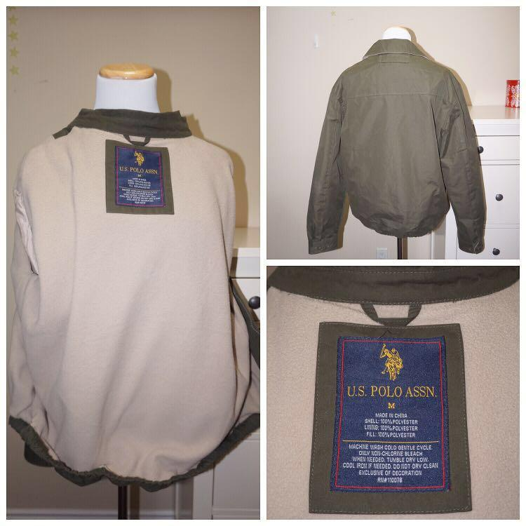 *Perfect Condition* U.S. POLO ASSN. Coat with Fleece Lining Men Size M