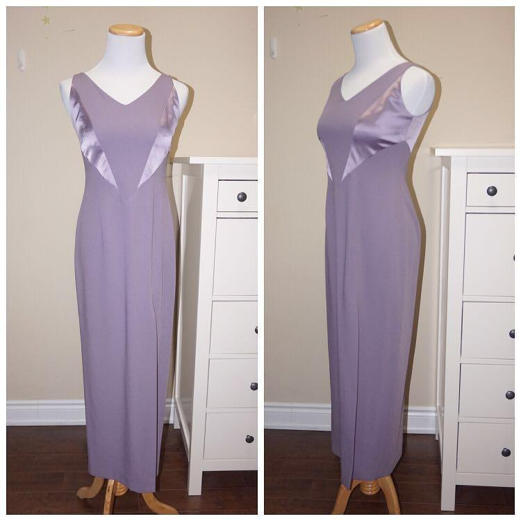 *Perfect Condition* Vintage Jackie K. Evening Dress with Slit Detail Women Size 2